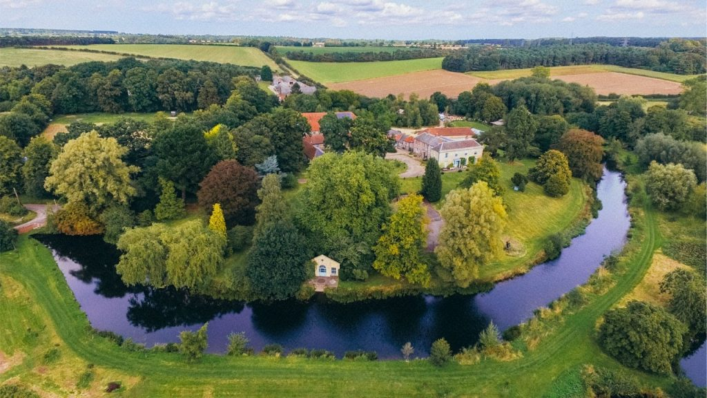 Aerial view - lush green forests of Our retreat in Norfork